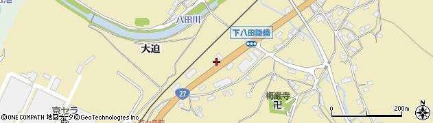 京都府綾部市下八田町(下沢)周辺の地図