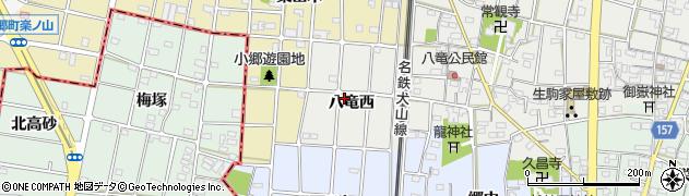 愛知県江南市小折町(八竜西)周辺の地図