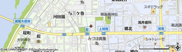 松竹周辺の地図