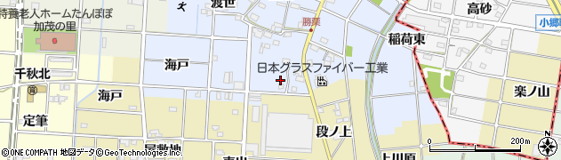 愛知県一宮市千秋町勝栗(下垂)周辺の地図