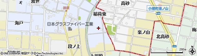 愛知県一宮市千秋町勝栗(向得)周辺の地図