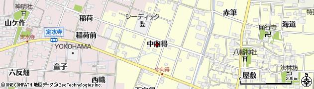 愛知県一宮市千秋町浮野(中向得)周辺の地図