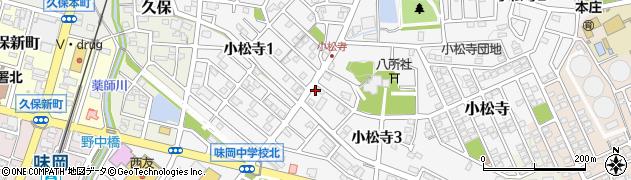 愛知県小牧市小松寺周辺の地図
