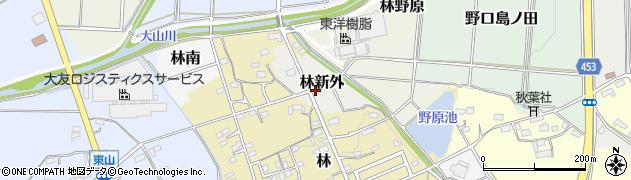 愛知県小牧市林新外周辺の地図