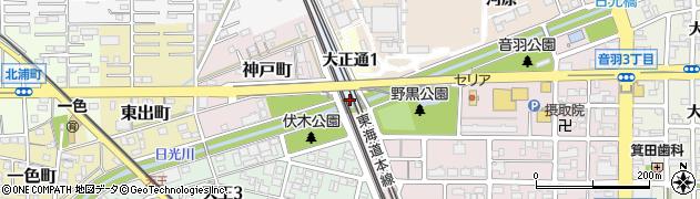 愛知県一宮市一宮(葭原)周辺の地図