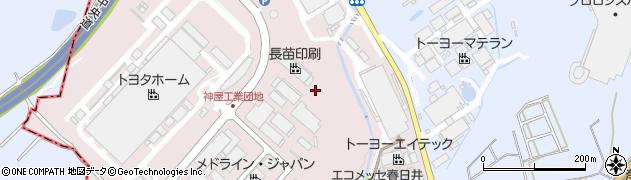 愛知県春日井市神屋町(引沢)周辺の地図