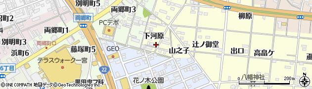 愛知県一宮市大赤見(下河原)周辺の地図