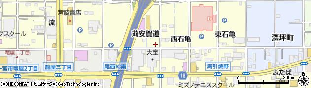 愛知県一宮市開明(苅安賀道)周辺の地図