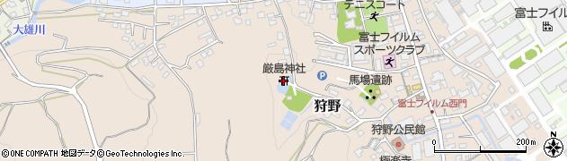 厳島神社周辺の地図