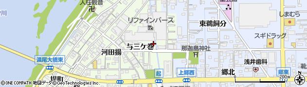 愛知県一宮市起(与三ケ巻)周辺の地図