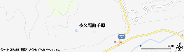 京都府福知山市夜久野町千原周辺の地図