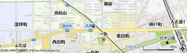 愛知県一宮市北浦町周辺の地図