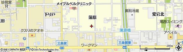愛知県一宮市開明(蒲原)周辺の地図