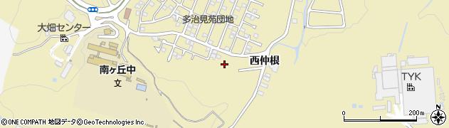 岐阜県多治見市大畑町(西仲根)周辺の地図