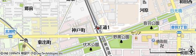 愛知県一宮市一宮(和田)周辺の地図
