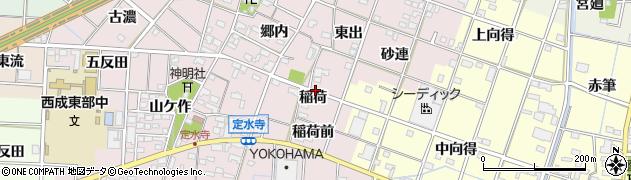 愛知県一宮市定水寺(稲荷)周辺の地図