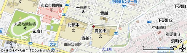 愛知県一宮市貴船周辺の地図