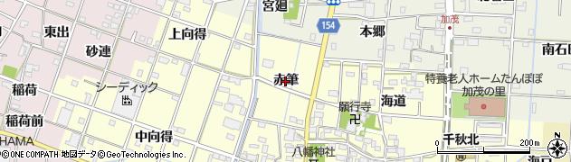 愛知県一宮市千秋町浮野(赤筆)周辺の地図