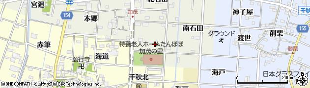 愛知県一宮市千秋町加茂(海戸)周辺の地図