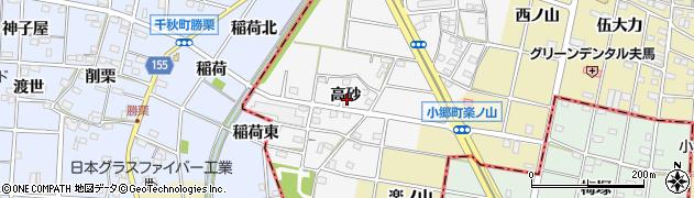 愛知県江南市五明町(高砂)周辺の地図