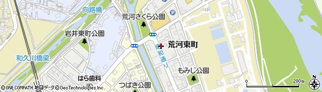 京都府福知山市荒河東町周辺の地図