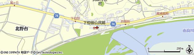 京都府綾部市位田町(野本)周辺の地図