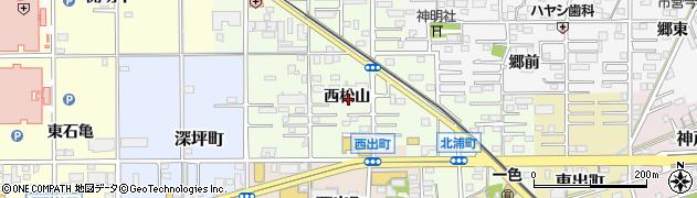 愛知県一宮市今伊勢町宮後(西松山)周辺の地図