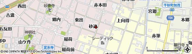 愛知県一宮市定水寺(砂連)周辺の地図