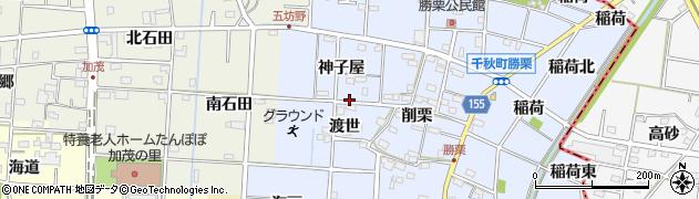 愛知県一宮市千秋町勝栗(ミコヤ)周辺の地図