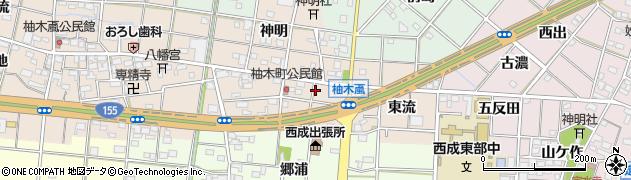 愛知県一宮市柚木颪(古阿弥陀)周辺の地図