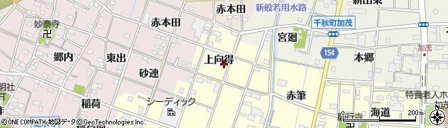 愛知県一宮市千秋町浮野(上向得)周辺の地図