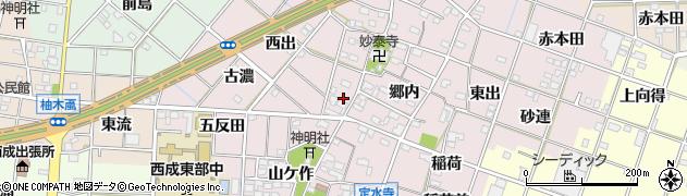 愛知県一宮市定水寺(神明社裏)周辺の地図