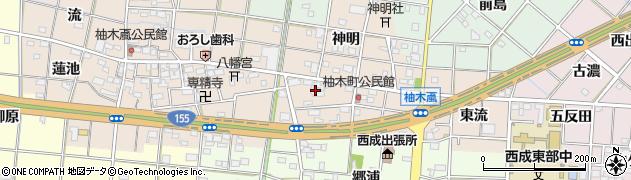 愛知県一宮市柚木颪(柚木)周辺の地図