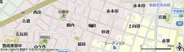 愛知県一宮市定水寺(東出)周辺の地図