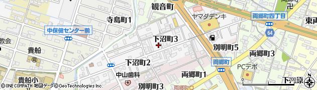 愛知県一宮市下沼町周辺の地図