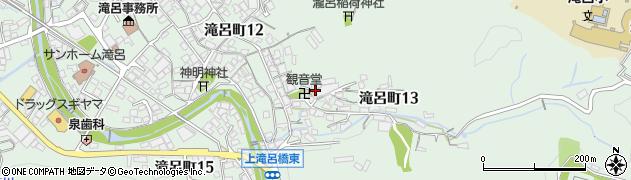 岐阜県多治見市滝呂町周辺の地図