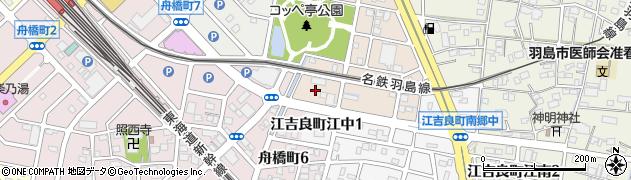 岐阜県羽島市江吉良町江西周辺の地図