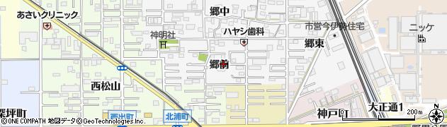 愛知県一宮市今伊勢町新神戸(郷前)周辺の地図