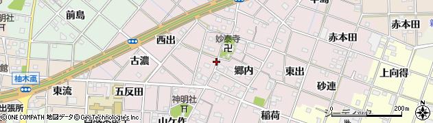愛知県一宮市定水寺周辺の地図