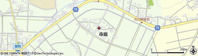 京都府綾部市栗町(市庭)周辺の地図