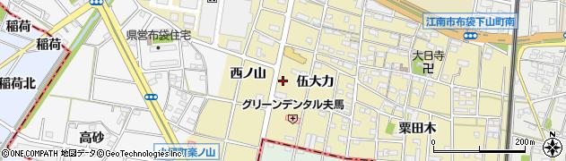 愛知県江南市小郷町周辺の地図