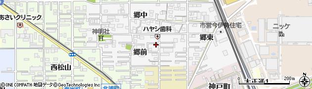 愛知県一宮市今伊勢町新神戸周辺の地図