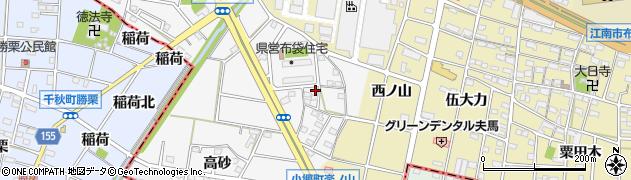 愛知県江南市五明町(石橋)周辺の地図