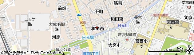 愛知県一宮市今伊勢町本神戸(和田西)周辺の地図