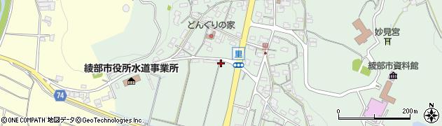 京都府綾部市里町(野)周辺の地図