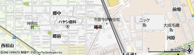 愛知県一宮市今伊勢町新神戸(郷東)周辺の地図
