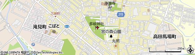 多岐神社周辺の地図