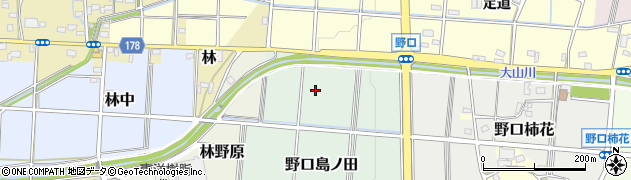 愛知県小牧市野口島ノ田周辺の地図