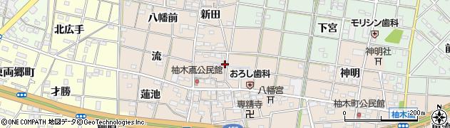 愛知県一宮市柚木颪(郷中)周辺の地図