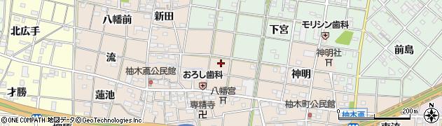 愛知県一宮市柚木颪(角畑)周辺の地図